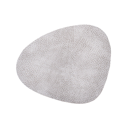 TABLE MAT HIPPO white-grey