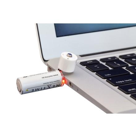 USB Batteri AA, Uppladdningsbart, 2-pack