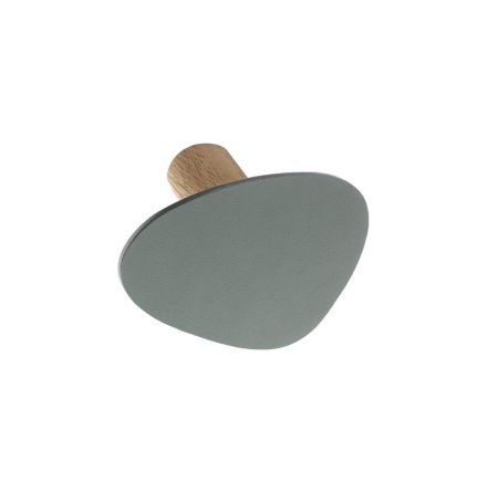 WALL DOT Väggkrok, NUPO pastel green / STEEL anthracite