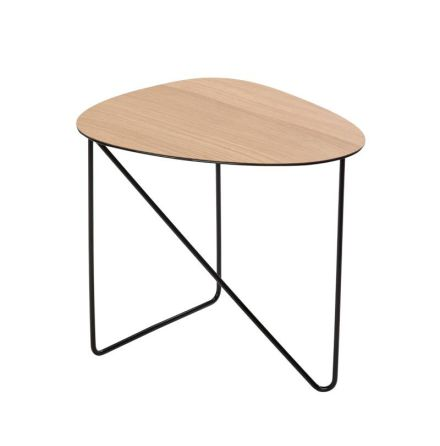 Soffbord CURVE M (40X43X37CM) WOOD oak / STEEL black