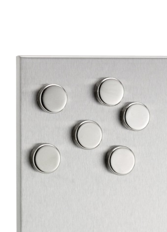 MURO,set of 6 magnets, stainle