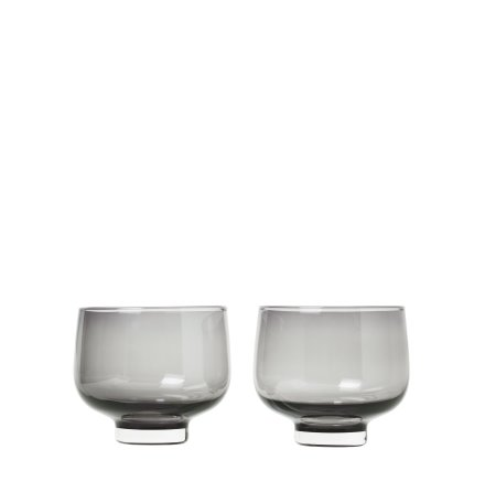 FLOW, Set/2 Tumbler Glas, Smoke