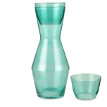 Double Up glass - turquoise sprayed (2 stk)