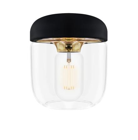 Acorn black polished brass Ø 14 x 16 cm