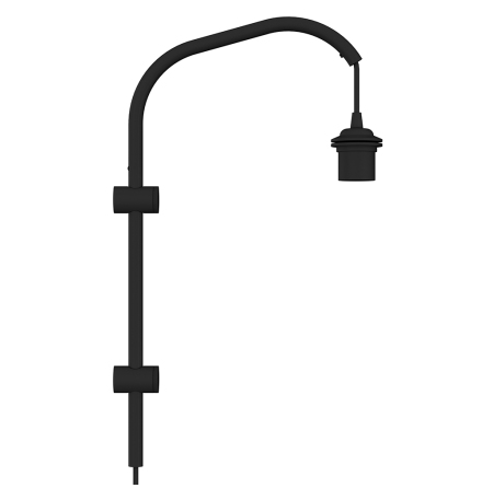 Willow Mini wall hanger black H 50 cm