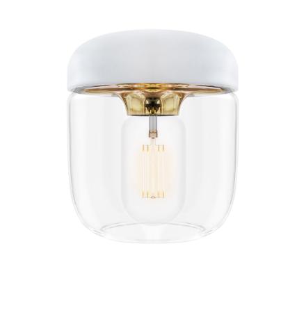 Acorn white polished brass Ø 14 x 16 cm