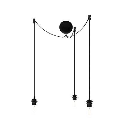 Cannonball black cluster 3 Ø 12cm L 2,5 m