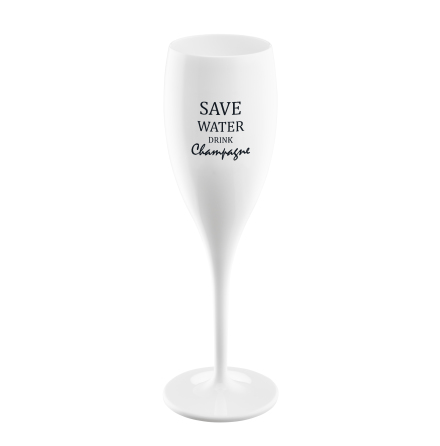 CHEERS Save water drink champagne, Champagneglas med print 6