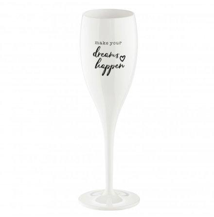 CHEERS Make dreams happen, Champagneglas med print 6-pack 10