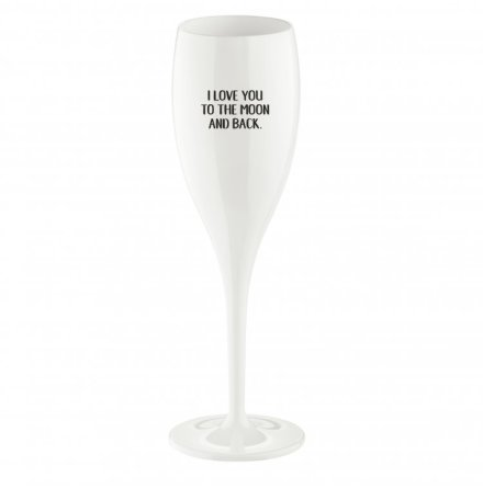 CHEERS Love You To The Moon, Champagneglas med print 6-pack
