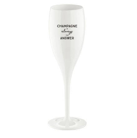 CHEERS Champagne Is The Answer, Champagneglas med print 6-pa