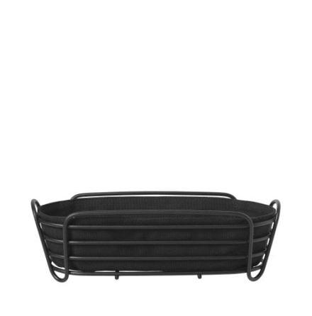 DELARA Brödkorg, svart, oval