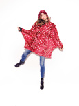 mini maxi poncho ruby dots