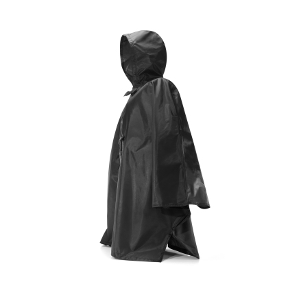 mini maxi poncho black