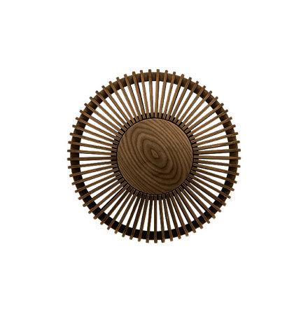 Clava Up - Wood Dark Oak Medium Ø 35 x 16,4 cm