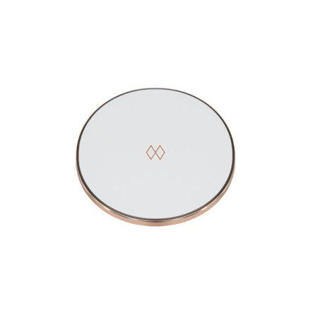 Unifier Qi-laddare, Vit/Roséguld Ø 9,9cm H 0,7cm
