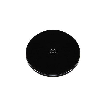 Unifier Qi-laddare, Svart/Krom Ø 9,9cm H 0,7cm