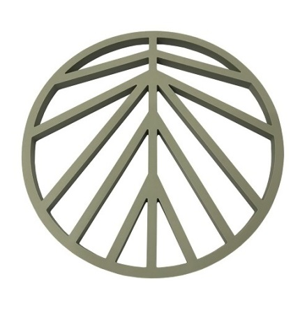 Peace Grytunderlägg Silikon Oliv/Grå D16cm