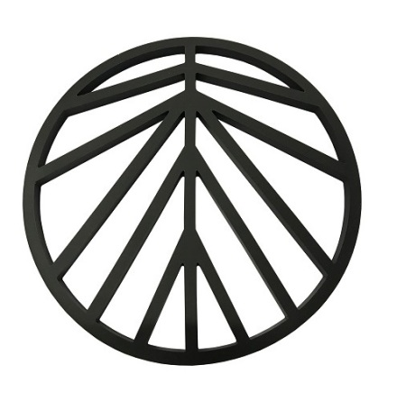 Peace Grytunderlägg Silikon Svartgrå D16cm