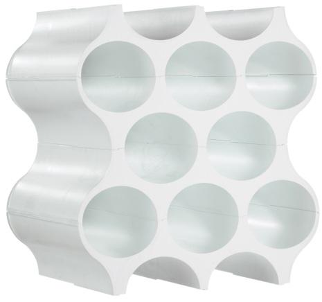 Bottle rack,SET-UP,solid white