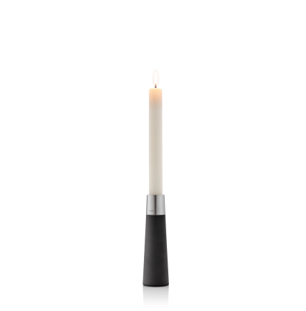 Candlestick w/ candle, 20 cm,L