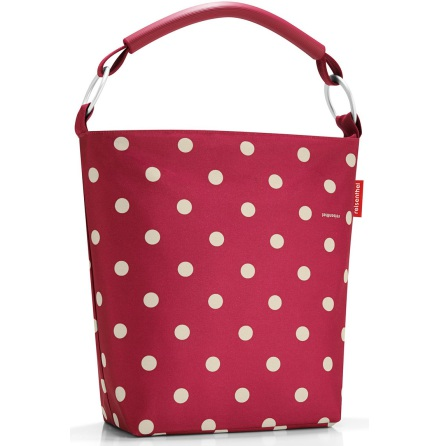 ringbag L ruby dots