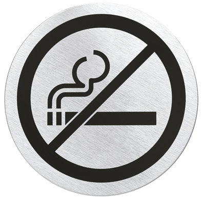 """SIGNO,door sign """"no smoking"""