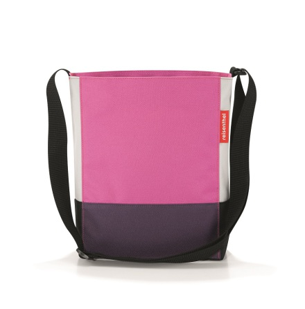 shoulderbag S patchwork magent