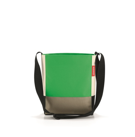 shoulderbag S patchwork green