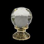 Handtag för dörr, skåp mm - Diamant/Guld/Silver