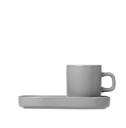 MIO Espressomugg och fat, Mirage Grey