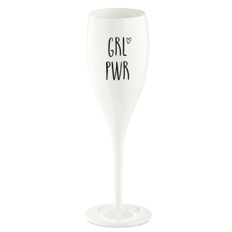 CHEERS, Champagneglas med print