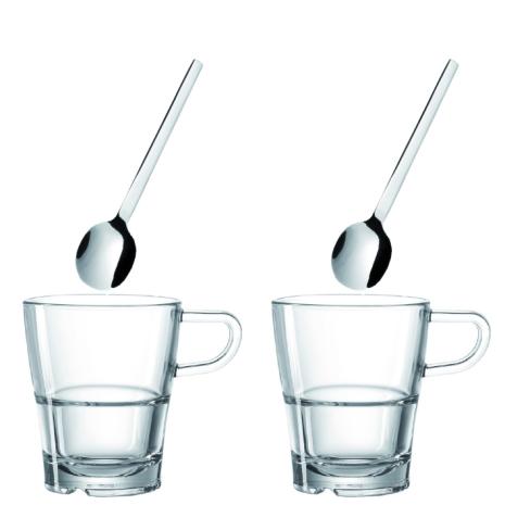 Kaffeset - Kaffekopp och sked x 2
