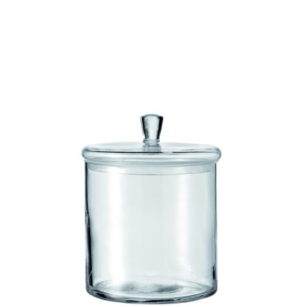 Glasburk med lock 17x15cm