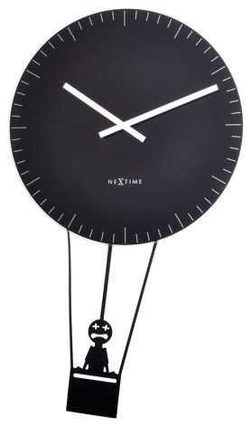 Flying time Black Pendel/Väggklocka ø43cm