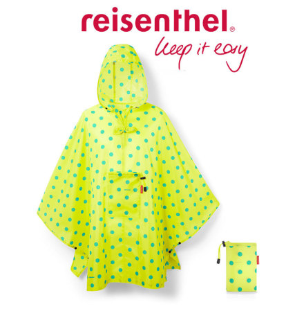 mini maxi poncho lemon dots