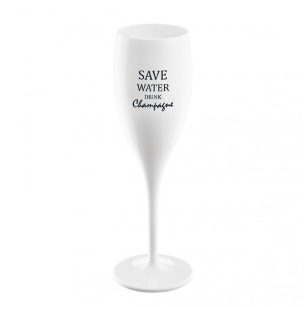 CHEERS Champagneglas - Save water drink wine