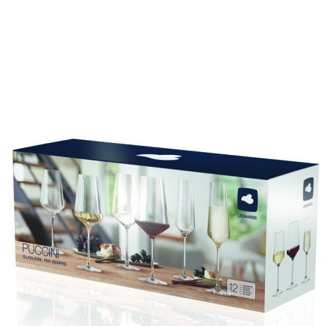 PUCCINI 12-pack Vin/Champagneglas
