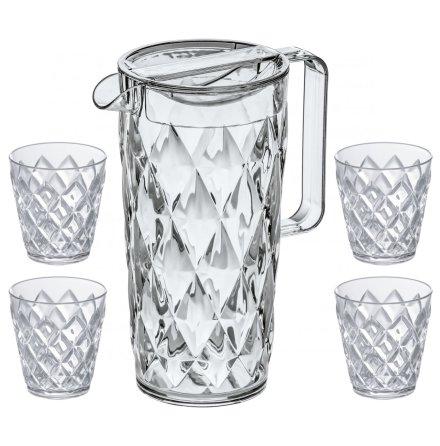 CRYSTAL Set, Karaff inkl 4 glas